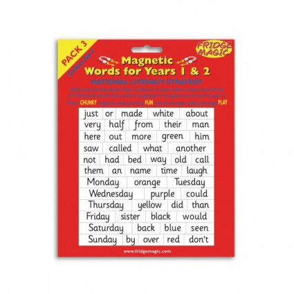 Magnetic Words for Years 1&2 PACK 3 Key Stage