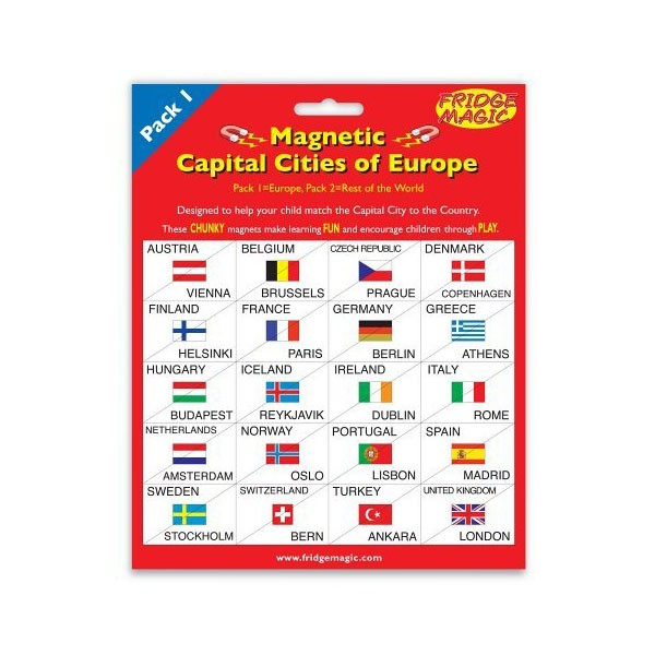 Magnetic Flags Amp Capital Cities Of Europe Toy Figure