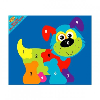 Magnetic Educational 1-10 Dog Jigsaw